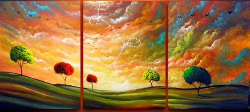 Cuadros modernos pinturas y dibujos cuadros de paisajes - Pintar un cuadro moderno ...