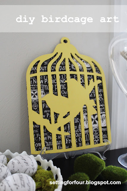 Do you love birds? Make this Easy DIY Birdcage Art! Hang on a wall or add it to a bookshelf! See how I used it to hide a wall light switch I never use!