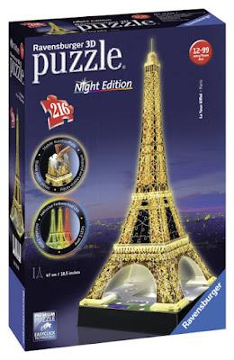 TOYS : JUGUETES - Ravensburger  Puzzle 3D : La Tour Eiffel : Night Edition  Tamaño: 47 cm | Piezas: 216 | Edad: +12 años  Comprar en Amazon España