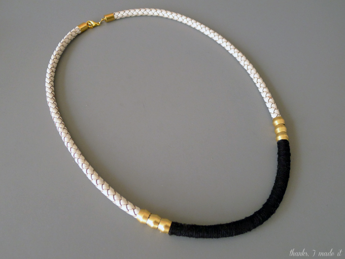 diy leather cord necklace with hardware thanks i made