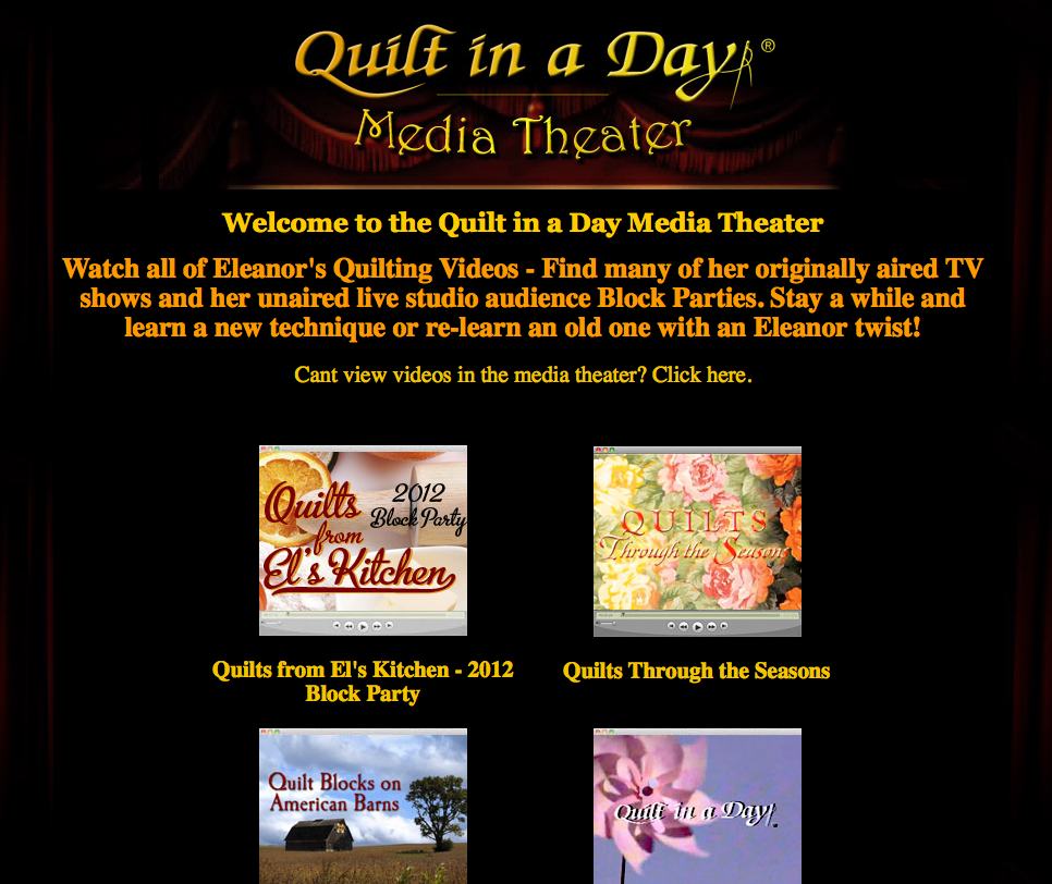 New Sponsor Giveaway: Quilt in a Day with Eleanor Burns - The ... : quilt in a day videos - Adamdwight.com