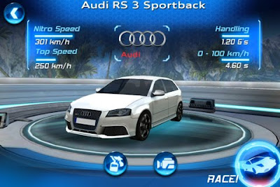 Asphalt Audi RS 3 para iPhone