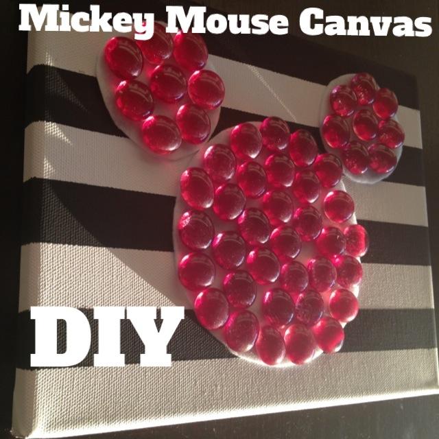 Mickey Mouse Canvas Art DIY