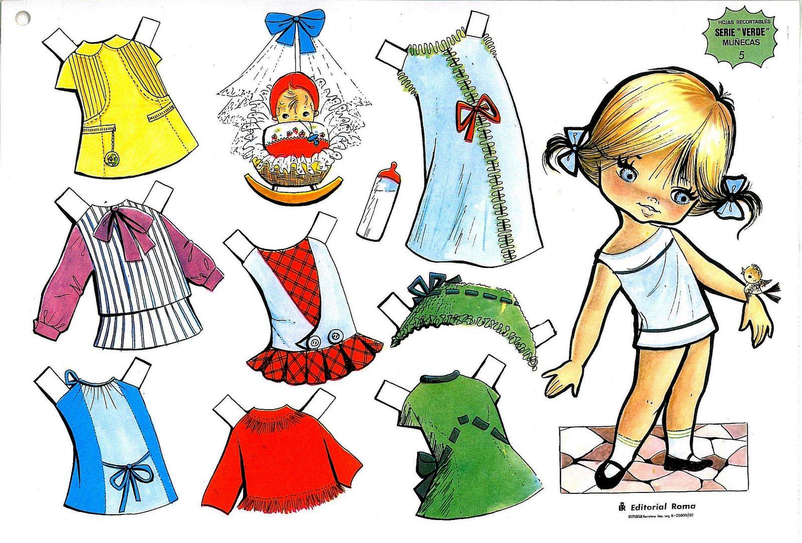 Muñecas para vestir paper dolls | Rayito de Colores
