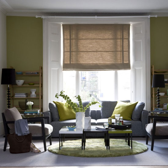 Sense and simplicity april 2012 for Olive green living room ideas