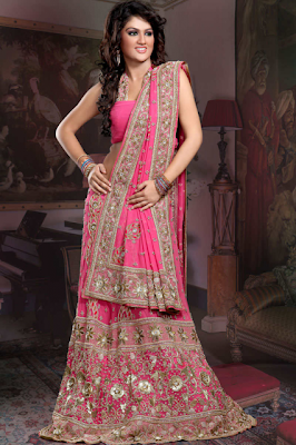Indian Bridal Wedding Pink Chaniya Choli