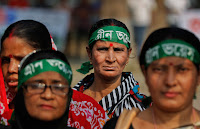 Women participate in a rally for climate change awareness in Dhaka, Bangladesh, Saturday, Nov. 28, 2015.000000 (Credit: mashable.com) Click to Enlarge.