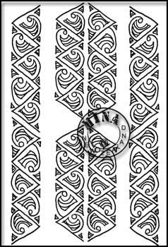 Maori Printables Simple Kowhaiwhai Pattern