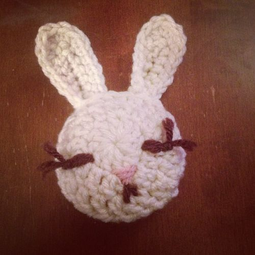 crochet white bunny