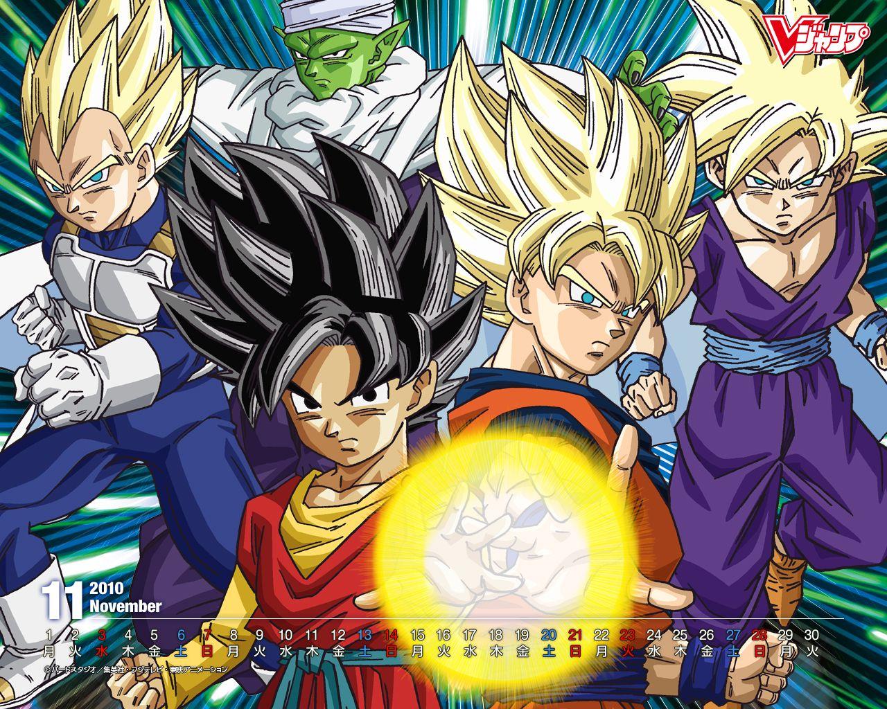 Wallpaper Dragon Ball Z Goku Vegeta Gohan Y Piccolo
