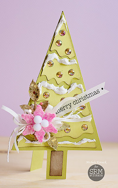 SRM Stickers Blog - Merry Christmas! by Michele - #christmas #stickers #glitter #rhinestones #card