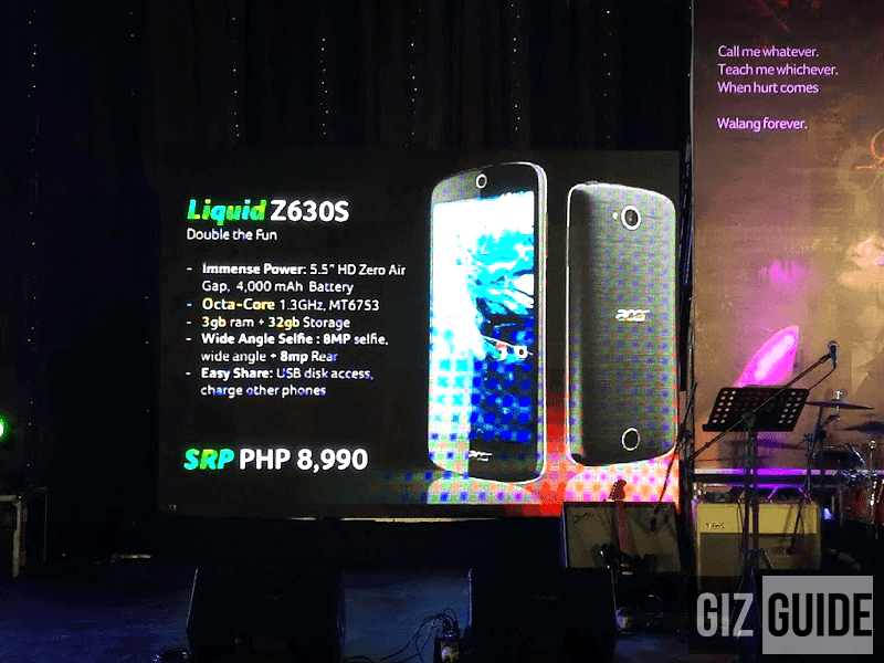 Acer Liquid Z630S Announced! 64 Bit Octa Core, 3 GB RAM And 4000 mAh Battery Priced At Just 8990 Pesos!