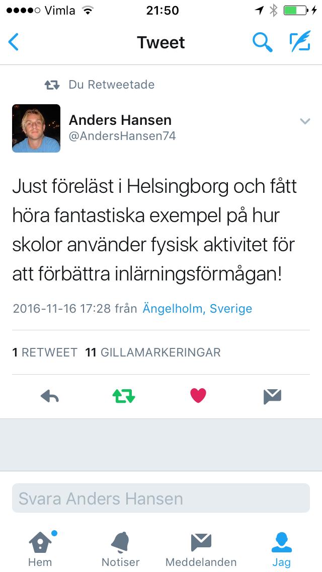 Möte med Anders Hansen!