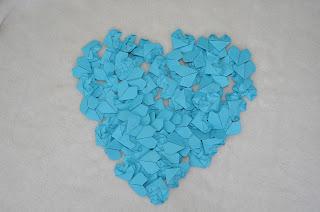 Corações de Origami