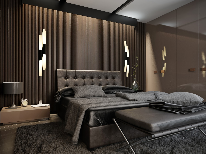 Дизайн мужской спальни фото