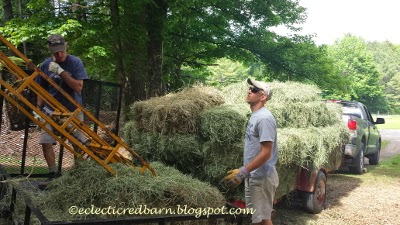 Eclectic Red Barn: Putting up hay