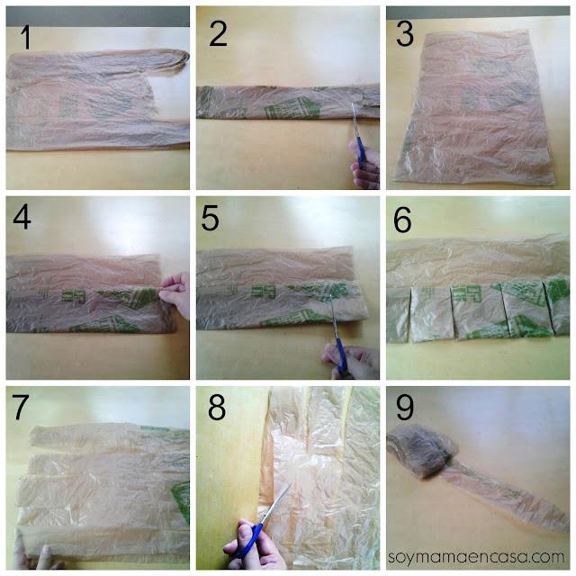 como reciclar bolsas de plastico en cintas para tejer