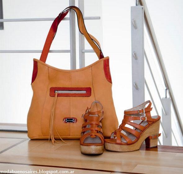 Corium primavera verano 2013. Carteras y zapatos moda 2013.