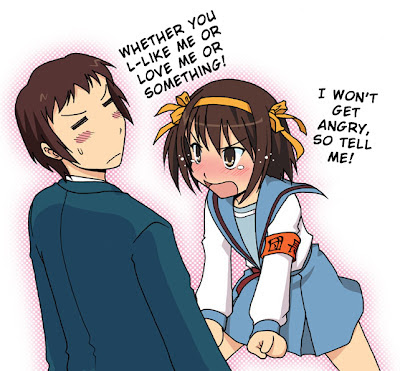haruhi suzumiya and kyon relationship goals