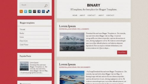 Binary simple blogger template 2014 for blogger or blogspot