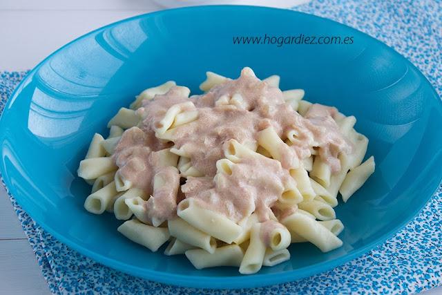 Macarrones con salsa de paté receta para Chef o Matic Pro