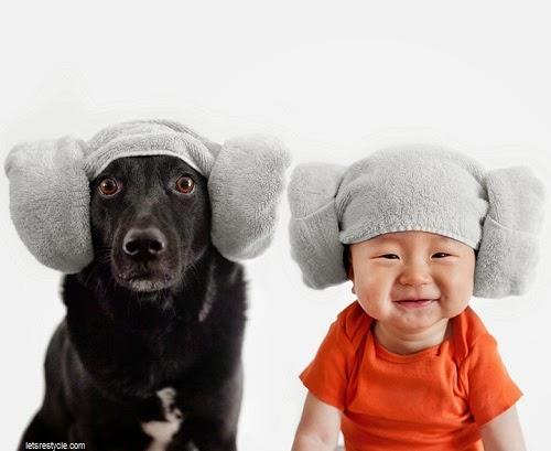 Des photos trop mignonnes d'un bébé avec son chien