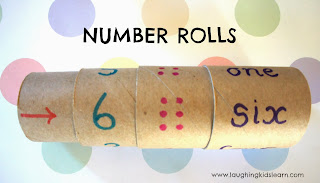 Simple tool for teaching children about math using toilet rolls