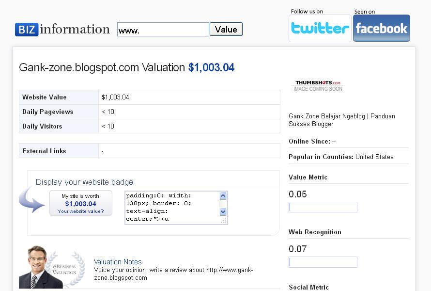 Cek Berapa Harga Blog Mu