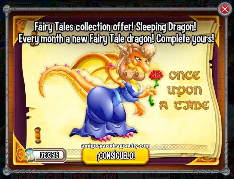 imagen de la oferta especial del dragon bella durmiente de dragon city