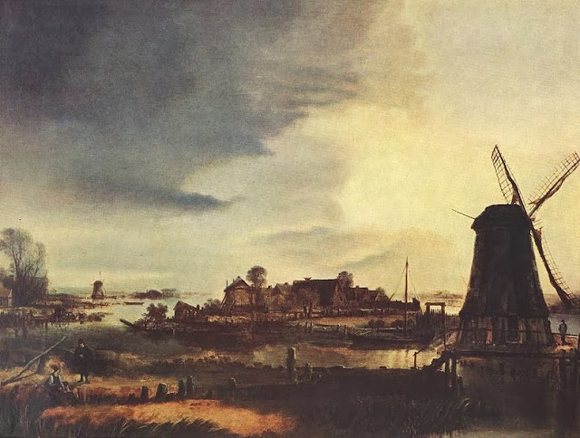 'Landscape with Windmill.' 1646. Photo: WikiMedia.org.