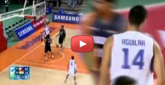 Japeth Aguilar's Two-Handed Alley Oop Slam Against India (VIDEO) Asian Games 2014