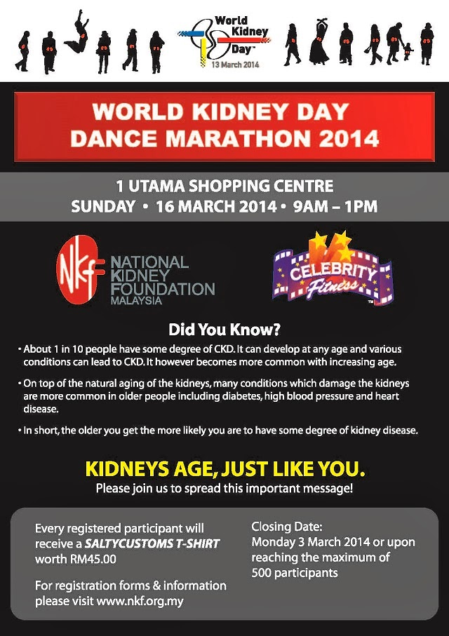 World Kidney Day Dance Marathon @ 1 Utama Shopping Centre