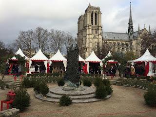 Weihnachtsmarkt Notre Dame, Paris