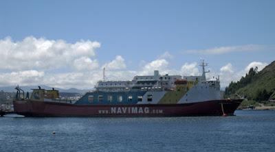 La compañía Navimag recorre los fiordos chilenos entre Puerto Montt y Puerto Natales