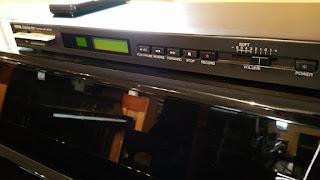 closeup of Yamaha MX80S Disklavier control unit