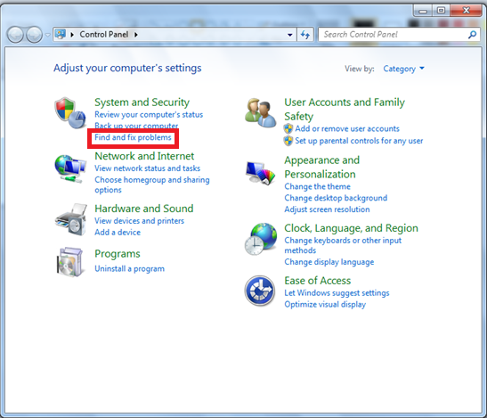 Windows 7 Troubleshooter