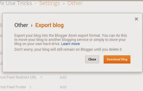 backup your blogger blog
