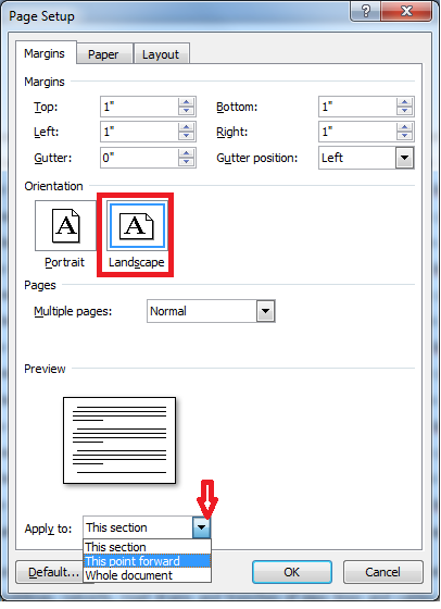 How to Do Portrait and Landscape in Same MS Word Document in All Versions