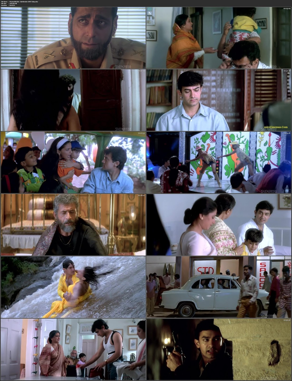 Sarfarosh 1999 Bollywood 300MB Movie BluRay 480p