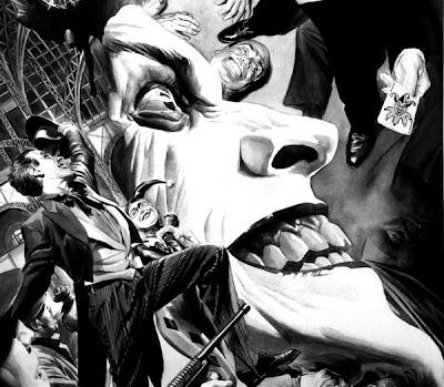The Joker B/W illstration