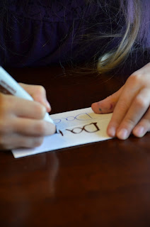 creating a name place card