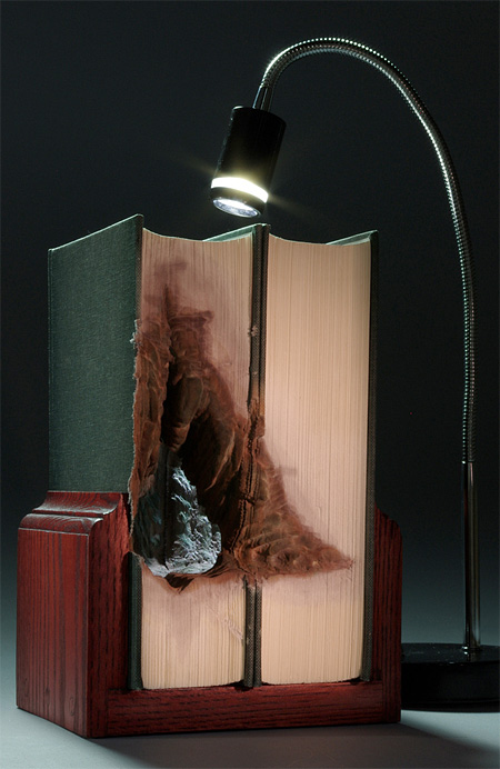 Book sculptures by Guy Laramee