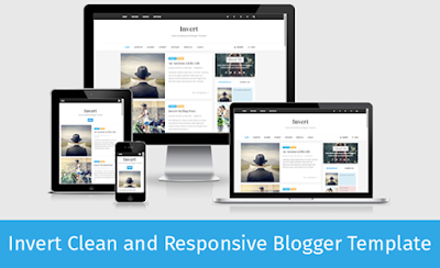 Invert clean responsive blogger template