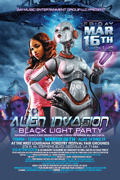 Alien Invasion Teen Black