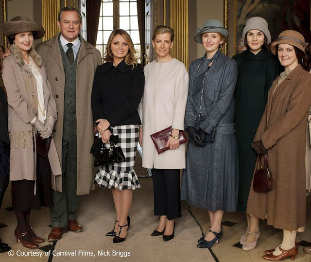 The Countess of Wessex and Angélica Rivera visits Downton Abbey