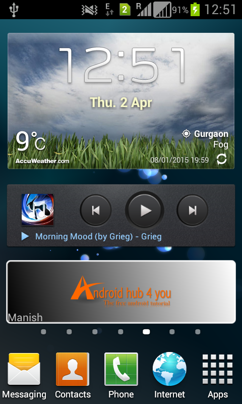 how to create a widget for my android app