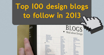 100 Design Blogs of 2013 To Follow image 2 infographic
