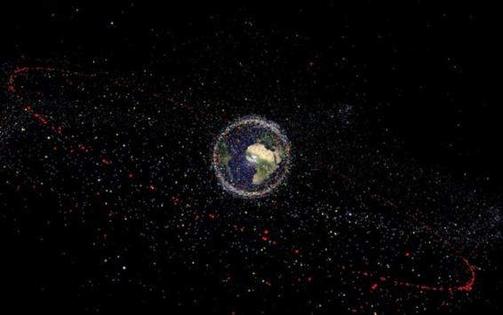 Distribution of space debris. Credit: ESA