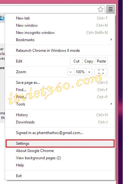 Settings Google chrome, cai dat google Chrome