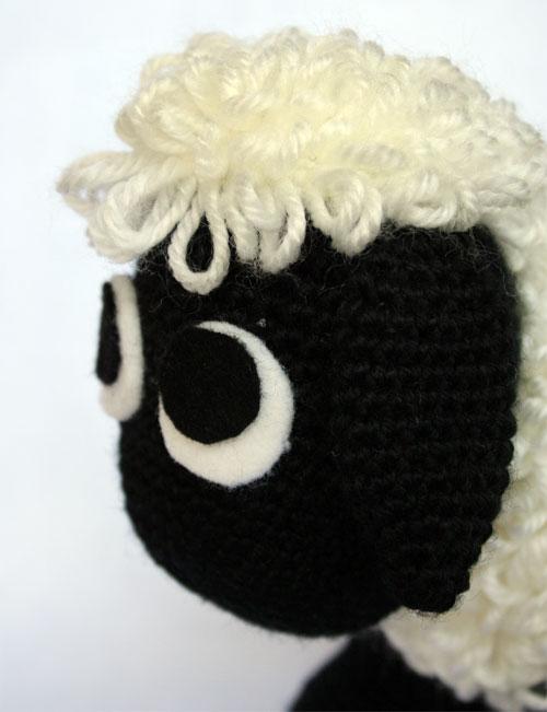 Testa pecorella amigurumi
